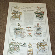 1916 Wicker Tea Carts For Porch & Lawn Parties