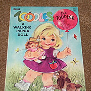 Toodles the Toddler Walking Paper Doll Book - Uncut