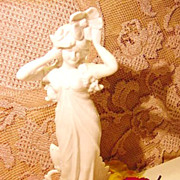 Bisque Art Nouveau Lady 9� Numbered 4122 German French Figural Figurine Very Light