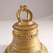 REDUCED Antique French Gilded Metal Bell Trinket Box - Easter gift - Unique!