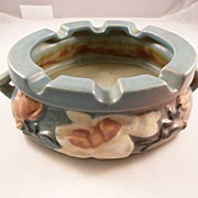 Roseville Art Pottery Blue Magnolia ASHTRAY - excellent condition