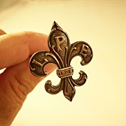 Louisiana Purchase Exposition 1904 Fleur di Lis Hatpin - St. Louis World's Fair