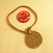 Vintage 1964 GOLDWATER political Bracelet & Campaign Pinback