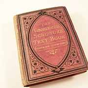 Miniature Book - Consecration Scripture Text Book - Victorian, 1883
