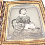 Haunting Cased Victorian Ambrotype of Young English Girl - identified, died 1872.