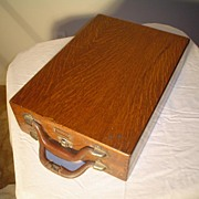Quartersawn Oak Rare  File Cabinet Suitcase