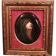 SALE RARE LARGE Outstanding EARLY KPM Porcelain Plaque of a Virgin