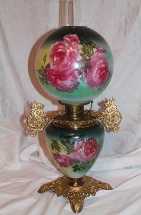 Wonderful Rare Gone With The Wind Oil Lamp Breathtaking