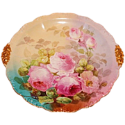 Truly Magnificent Antique Limoges France LARGE Charger Tray ~ Breathtaking Hand Painted Roses