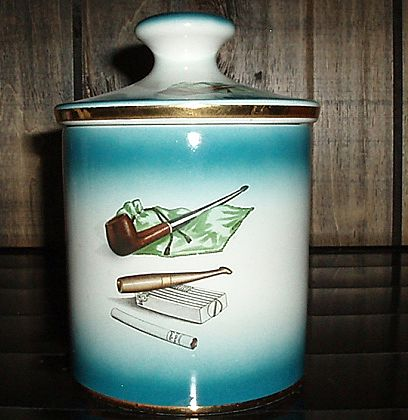 Buy ceramic cigar pipe - Neat Old Italian Ceramic Tobacco Jar