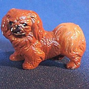 Hubley Cast Iron Pekingese Dog Paperweight or Party Favor Hard to Find