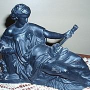 "Ansonia Clock Figure Statue ""Daphne"" Circa 1904 Marked"