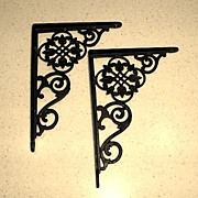 Old 5 Inch Cast Iron Shelf Brackets