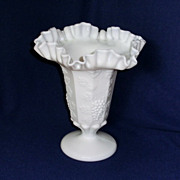 Westmoreland Paneled Grape Large Fluted and Ruffled Vase