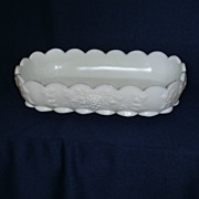 Rare Westmoreland Paneled Grape Oblong Shallow Bowl