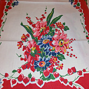 2 Excellent  Colorful Vintage Kitchen Towel Never Used