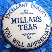 Old Celluloid Tape Measure Millar's Teas And Magnet Coffee