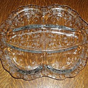 Beautiful Cambridge Rosepoint 5 Part Divided Relish Dish