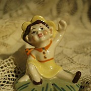 "Ceramic Arts Studio 2 1/8"" Waving Pixie Figurine"