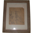 Eugene Higgins (Listed Artist) Original Pencil Sketch, Double Signed,  Hillside Mountain Village, c 1925