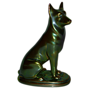 REDUCED Zsolnay Porcelain - Hungary - German Shepherd Dog
