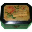 "REDUCED 19th Century Black Lacquer Mauchline Gift Box - ""Happy Returns Of The Day""!"