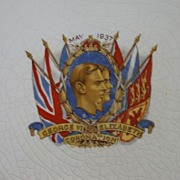 REDUCED Original  1937 Commemorative Plate Celebrating the Coronation of George VI
