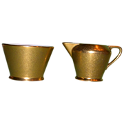 Vintage Pickard Creamer and Sugar Bowl, c 1940 -1950