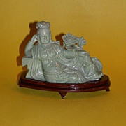 REDUCED Fascinating Chinese Hardstone Carved Figure of Lady Jin