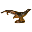 REDUCED Large 22 Carat Gold Decorated Bird Figurine, a foot long