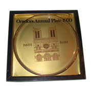 "Orrefors First Annual Limited Edition Plate, ""Notre Dame,"" 1970, Sweden, Magnificent"