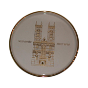 "SALE Orrefors Second Annual Limited Edition Plate, ""Westminster Abbey,"" 1971, Sweden"