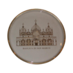 "Orrefors third Annual Limited Edition Plate, ""Basilica Di San Marco,"" 1972, Sweden, Magnificently Engraved in The Plate in Gold, Historical Churches of The World series"