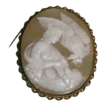 REDUCED Huge Antique Cameo - Hebe Feeding Zeus' Eagle