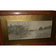 REDUCED J. Marque, Well-Listed French Artist - Moody and Arresting  Vintage Signed Landscape W