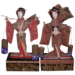 REDUCED Antique Pair of Japanese Festival Dolls, Matsukaze and Murasame
