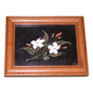 REDUCED Antique Pietra Dura - Two Flowers On a Branch - Beautiful Workmanship, late 19th Century