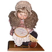 "Precious Mixed Media Soft Sculpture ""Mommy's Surprise"", by Sara Baker, Wonderful For"
