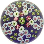 REDUCED Magnificent Antique Clichy Color Ground Paperweight