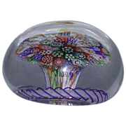 REDUCED Antique Baccarat Millefiori Mushroom Paperweight - c 1850