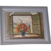 REDUCED Original Oil On Canvas - &quot;Alpine Bouquet&quot; - Signed M. Haterich