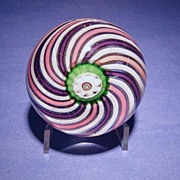 SOLD Very Unusual Clichy THREE Color Swirl Paperweight, c 1850