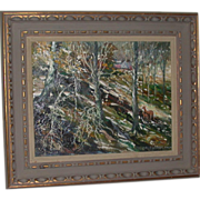 REDUCED Original Oil On Canvas by Well-Listed Artist John Grabach