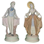 REDUCED Extremely Rare Pair Of Corday (Cybis) Hand-Painted Porcelains, c 1940