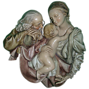 "REDUCED Borsato - ""Sacred Family"" Large Wall Plaque - Simply Wonderful!"