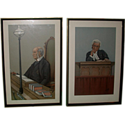 REDUCED SIX Antique Vanity Fair Legal Prints By &quot;Spy&quot; (Leslie Ward) c 1890s