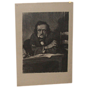 REDUCED Samuel J. Woolf - Portrait Lithograph of Edgar Allen Poe - c 1930