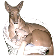 "REDUCED Lladro - Extremely Rare ""German Shepherd With Pup"" - Closed Edition, c 1970"