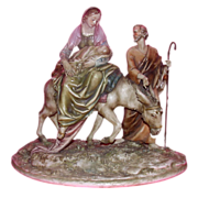 "Borsato - ""Flight Into Egypt"" - Wonderful Multi-Figural Sculpture"
