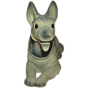 REDUCED German Shepherd (Alsatian) - Vintage Bank With Bobble Head - c 1950